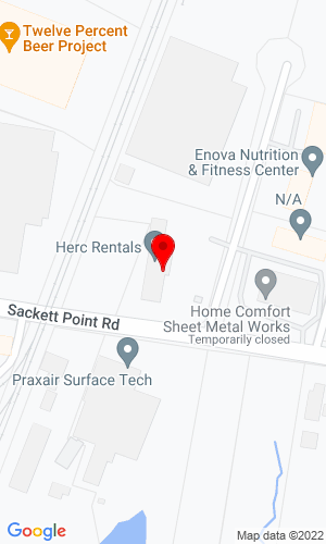 Google Map of Big East Equipment Company, Inc. 440 Sackett Point, North Haven, CT, 06473